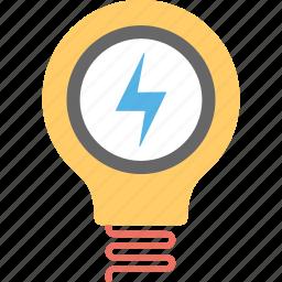 bright light, creativity, electric bulb, electricity light, innovation icon