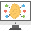 artificial intelligence, computer science, computer technology, computerized brain, machine assistance icon