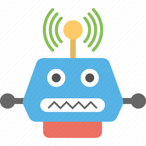 artificial intelligence, computer science, domestic robot, humanoid, wifi robot icon