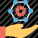 care, hand icon