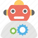 artificial intelligence, cartoon robot, robot automation, robot technology, robotic system icon
