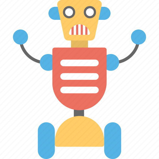 artificial intelligence, chatbot, mechanical robot, remote control robot, robot toy icon