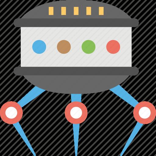 alien robotic ufo, artificial intelligence, robot alien spaceship, robotic alien spacecraft, robotic technology icon