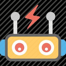 machine learning, machine power, robot, robot intelligence, robotic technology icon