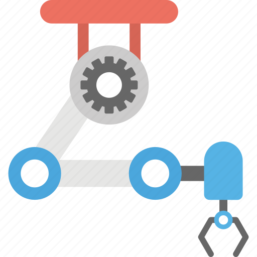 artificial intelligence, industrial robot, manufacturing machine, production line, robotic arm icon