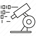 binary, experiment, lab, microscope icon