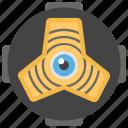 cyber eye, cybernetics, cyber monitoring, cyber security concept, mechanical eye, motion tracker