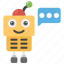 communication, exchanging ideas, intelligence, robotic communication, social meeting, transference icon