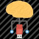 artificial intelligence, computerized brain, neural circuit, neural interface, neural network icon