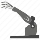 mechanical hand, robot technology, robotic arm, robotic hand, technological hand icon