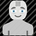 advanced technology, artificial intelligence, bionic human, robot, robot technology, robotics icon