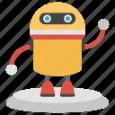bionic human, robot scanner, robotics, advanced technology, artificial intelligence, robot technology icon