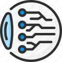 ai, artificial, eye, intelligence, network, neural, scan icon
