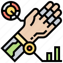 arm, machine, mechanical, robotic, technology icon