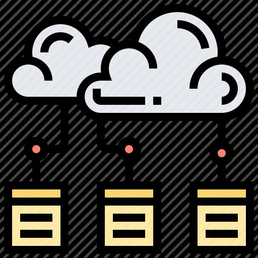 brainstorm, cloud, connection, crowd, sourcing icon
