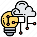cloud, concept, creativity, idea, innovation icon