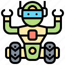 assistant, invention, robot, robotic, technology icon