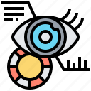 digital, eye, identification, scan, sensor icon