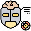 artificial, intelligence, protection, test, turing icon