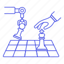 arm, logic, chess, intelligence, ai, artificial, robot, game, machine, tactical, learning, analysis icon