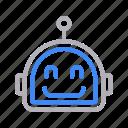 artificial, intelligence, machine, robot, robotics icon