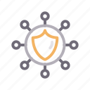 connection, network, protection, security, shield