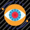 ai, computer, decision, eye, machine, vision icon