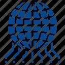 digital, electronic, global, technology, world icon