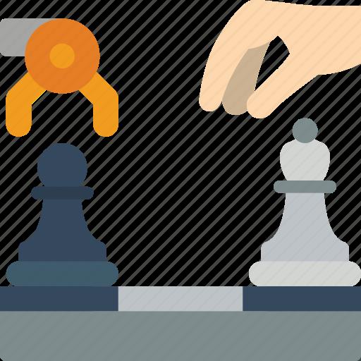 artificial, chess, intelligence, machine, robot icon