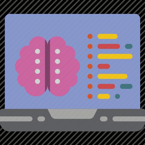 artificial, brain, coding, intelligence, machine, robot icon