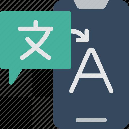 artificial, intelligence, machine, robot, translation icon
