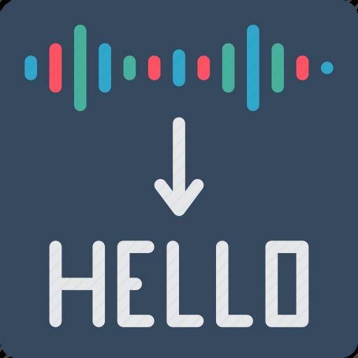 artificial, dictation, intelligence, machine, robot, speech icon