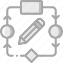 algorithm, artificial, edit, intelligence, machine, robot icon