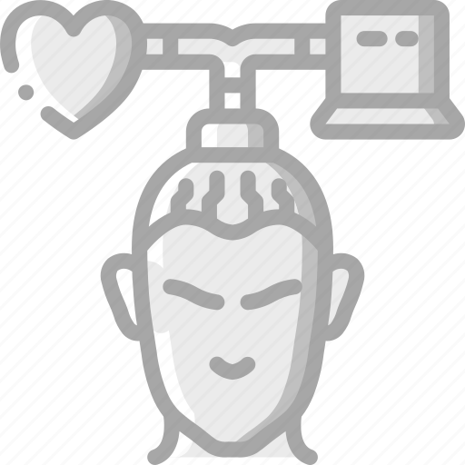 android, artificial, intelligence, machine, robot, transfer icon