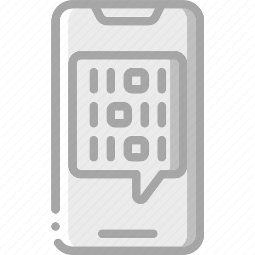 artificial, binary, intelligence, machine, phone, robot icon