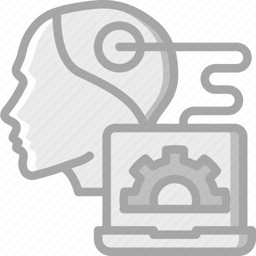 artificial, intelligence, machine, process, robot, thought icon