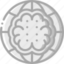 artificial, brain, intelligence, machine, network, robot icon