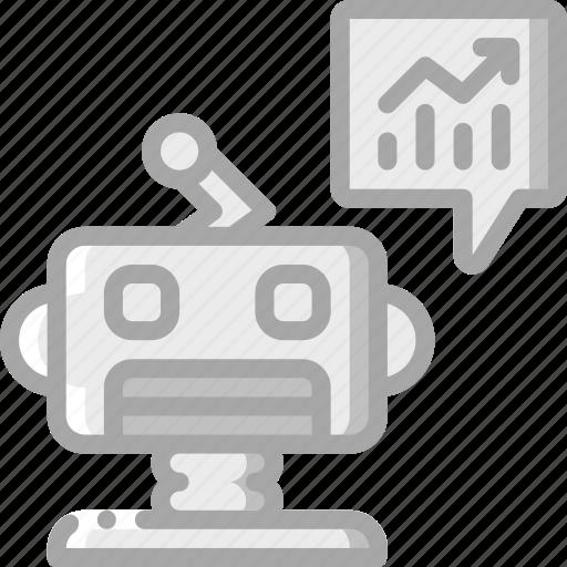artificial, intelligence, machine, predictions, robot icon