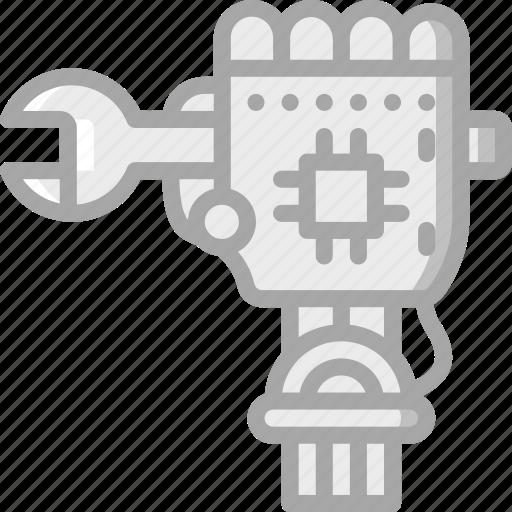 artificial, bot, intelligence, machine, repair, robot icon