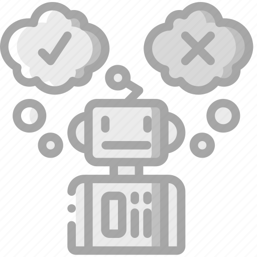 artificial, decision, intelligence, machine, making, robot icon