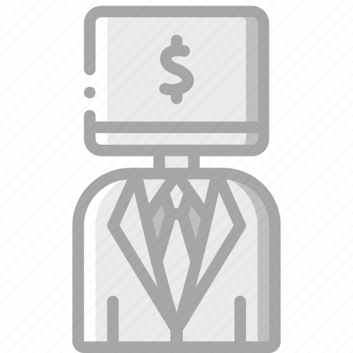 artificial, bot, business, intelligence, machine, robot icon