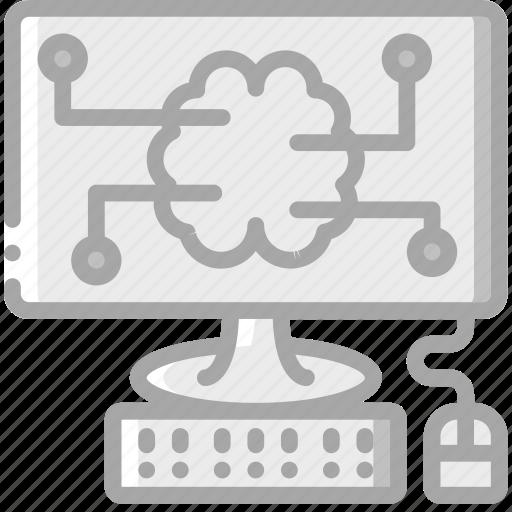 artificial, brain, computer, intelligence, machine, robot icon