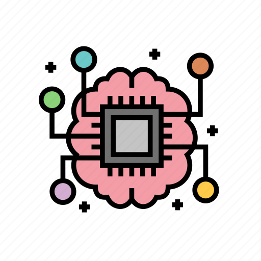 artificial, intelligence, learning, machine icon