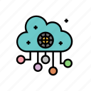 artificial, cloud, computing, intelligence, learning, machine icon