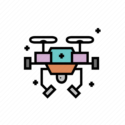 artificial, drone, intelligence, learning, machine icon