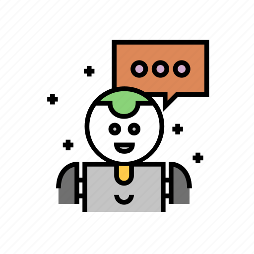 artificial, bot, chat, intelligence, learning, machine icon