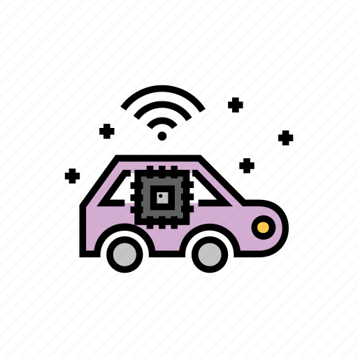 artificial, car, intelligence, learning, machine, smart icon