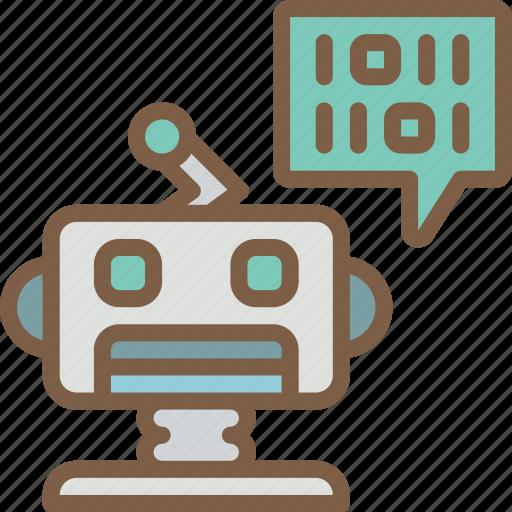 artificial, binary, bot, intelligence, machine, robot icon