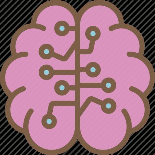 artificial, brain, intelligence, machine, robot icon