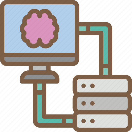 artificial, data, intelligence, machine, robot, transfer icon